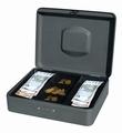 Pavo Premium Geldkist Grijs 30 x 24 x9 cm met cijferslot